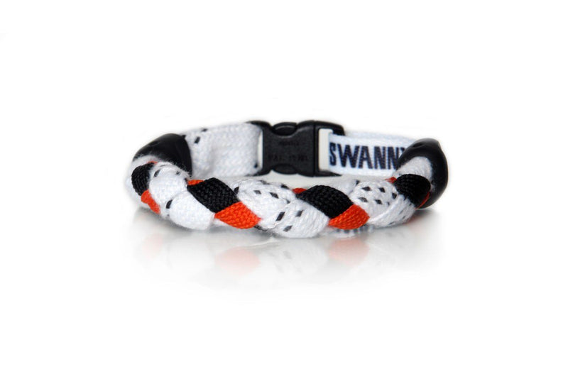 White, Black and Orange Hockey Bracelet - Swannys