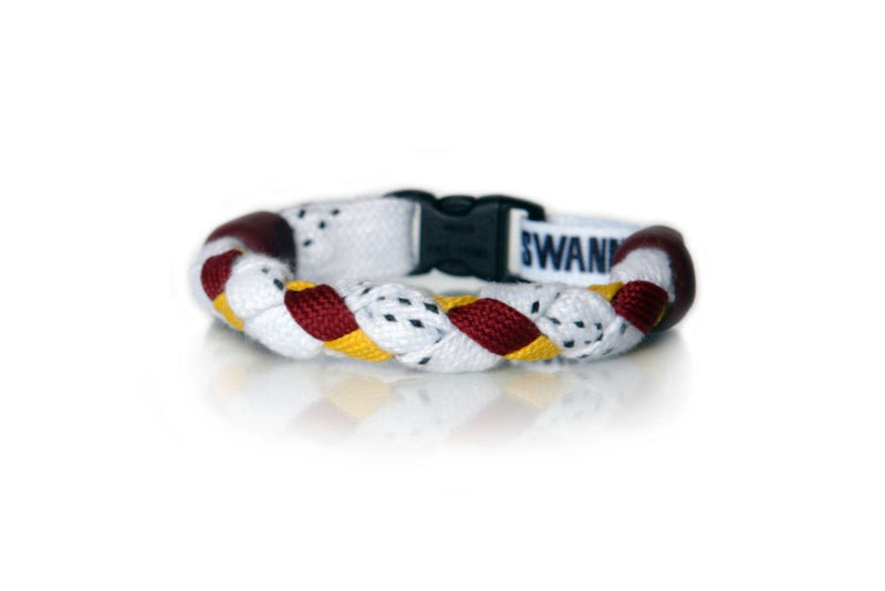 White, Maroon and Gold Hockey Bracelet - Swannys