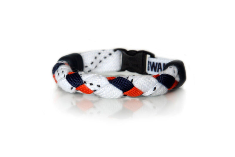 White, Navy Blue and Orange Hockey Bracelet - Swannys