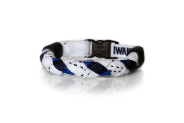 White, Navy Blue and Royal Blue Hockey Bracelet - Swannys