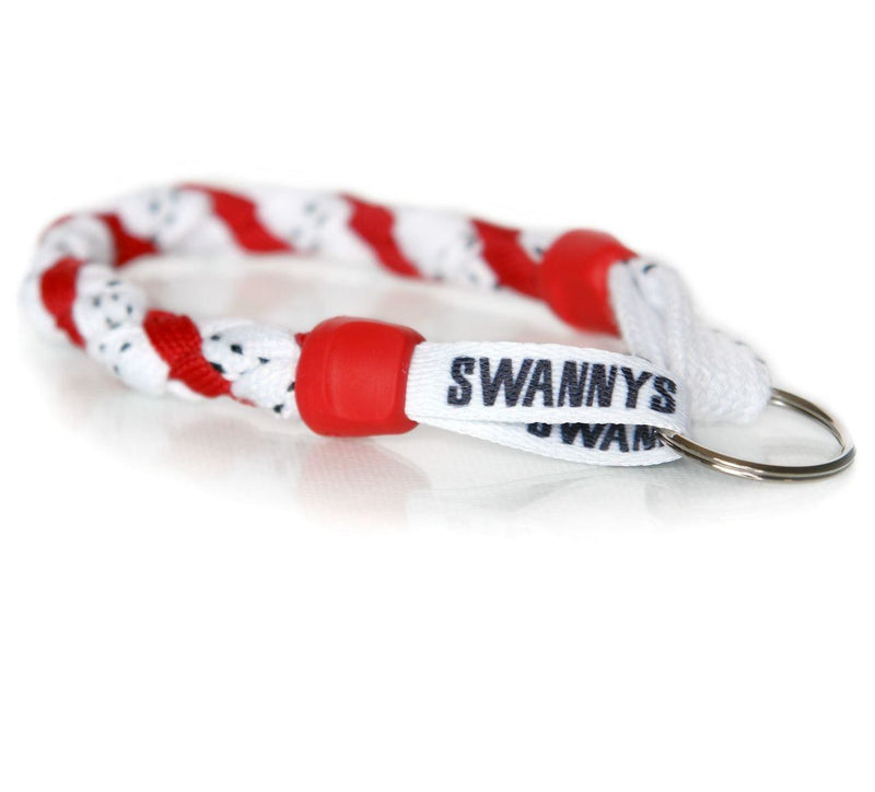 White and Red Hockey Keychain - Swannys