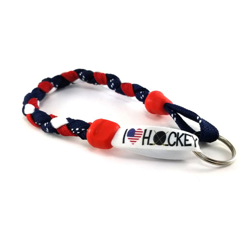 I Heart USA Hockey Keychain by Swannys