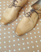 Beige Derby Women's Shoes