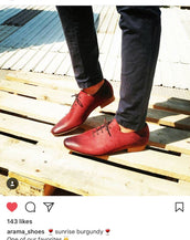 Burgundy sunrise shoes for Limor