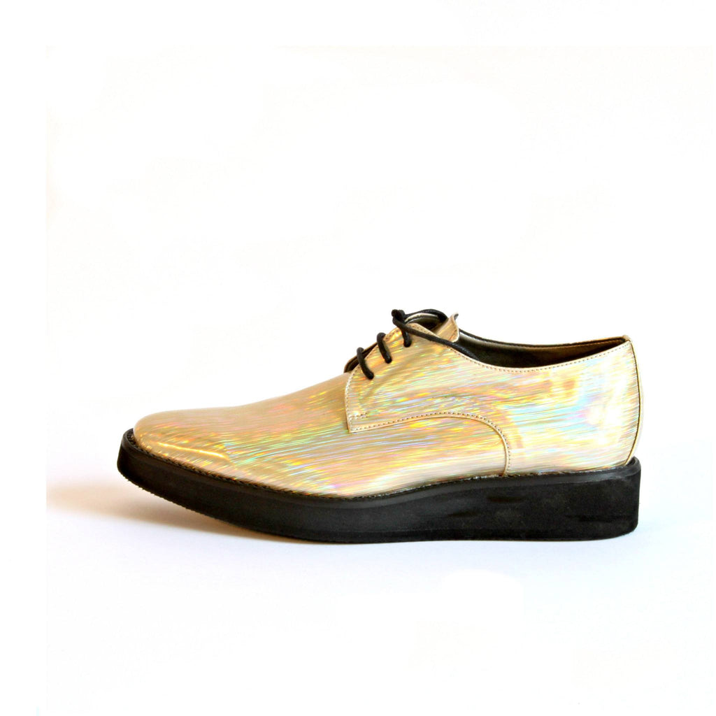 Disco Wedge Champaign Derby Women's Shoes