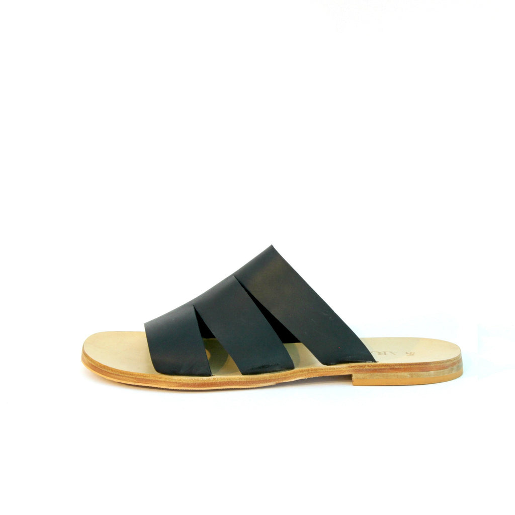 Made to order item - dark brown cut out sandals