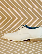 White calf women's Derby Shoes