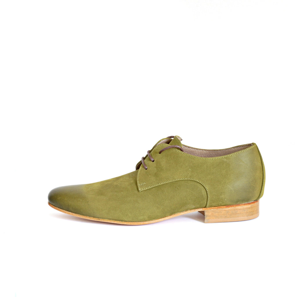 Olive Green Oxford Women Shoes