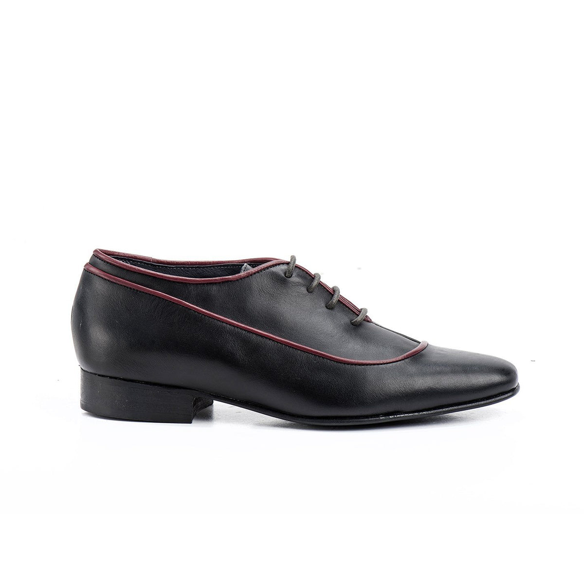 Black & Red Calf Florian Women's Shoes