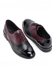 Copy of Black & Dark Red Oxford Men's shoes