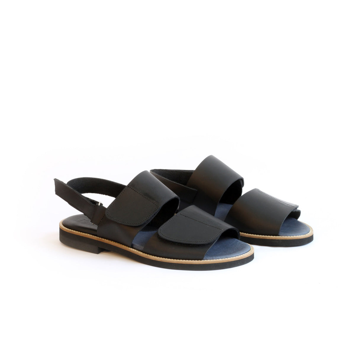 Black Women's Velcro Sandals