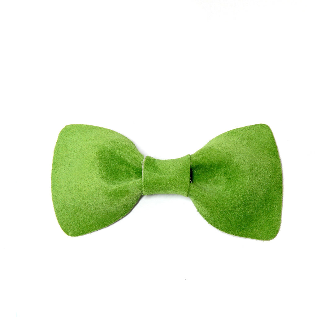 Green Suede Bow Tie