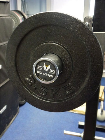 2.5kg Cast Iron Olympic Fractional Plates - Wolverson Fitness