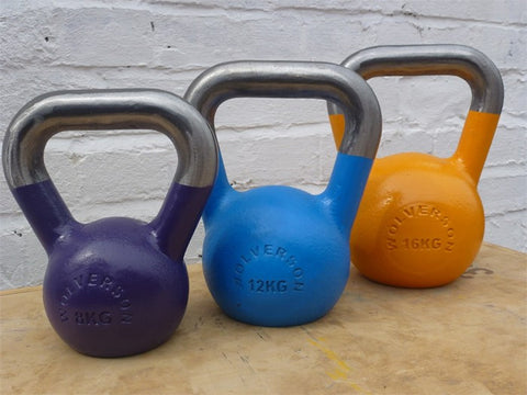 Coloured Cast Iron Kettlebells