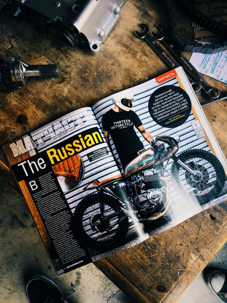 """The Russian"" featured in Motorcycle Magazine in Russia."