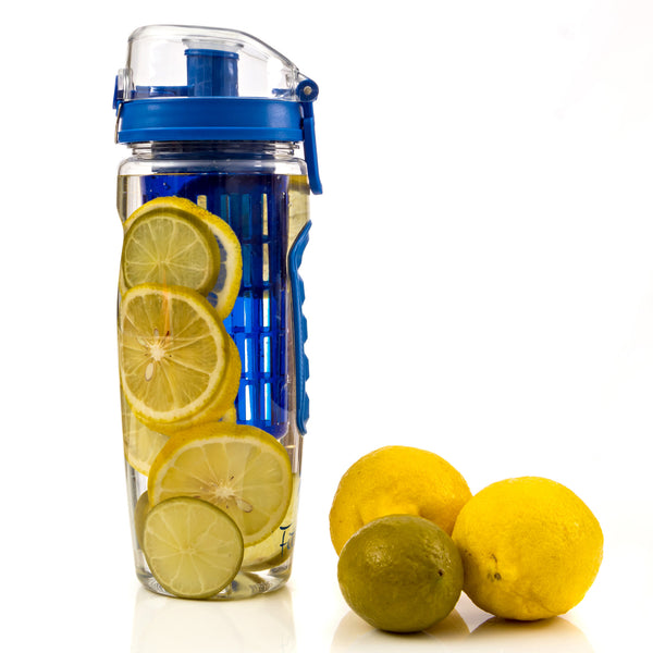 Royal Blue  Fitinfuser Shaker Water Bottle with Insulating Sleeve