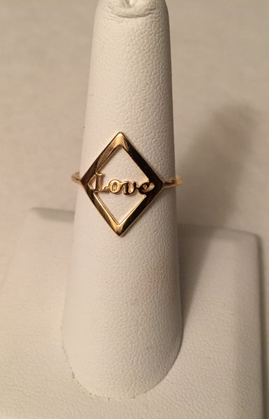 Gold Love ring - LalaLiv