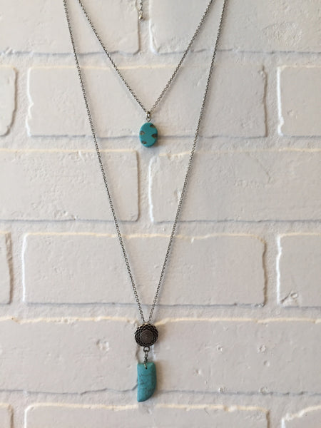 Turquoise double chain - LalaLiv