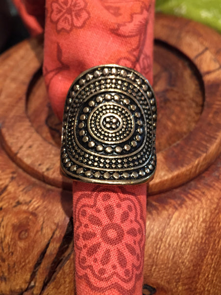Aztec oversized ring - LalaLiv