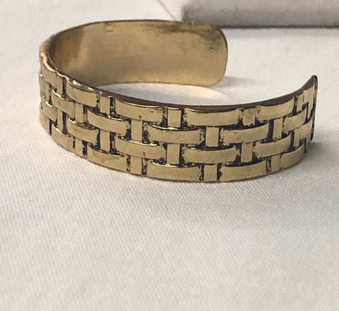 Gold Weaving Cuff Bracelet