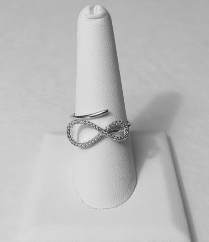 Silver infinity adjustable ring - LalaLiv
