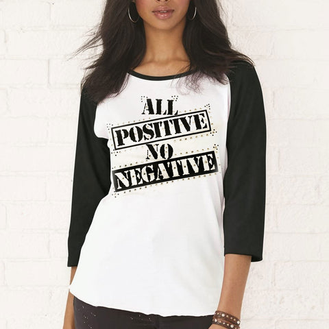 All Positive Baseball Tee - LalaLiv
