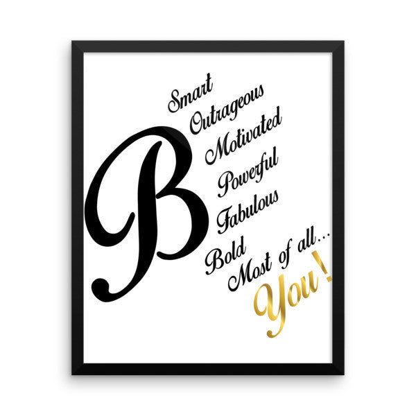 B You Framed Poster - LalaLiv