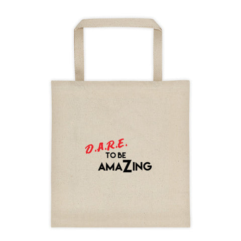 Dare to be amazing tote bag - LalaLiv