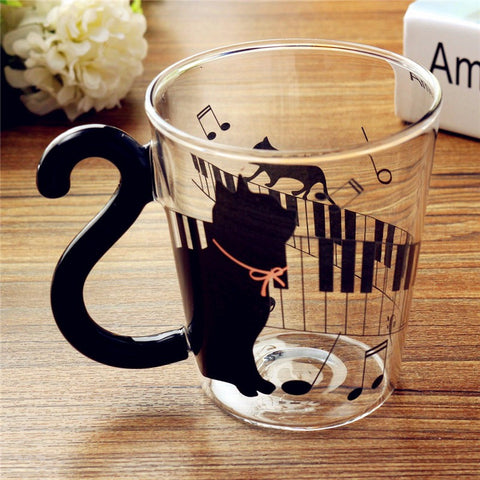Cute Borosilicate Glass Cat  Mug - LalaLiv