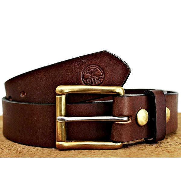 Working Man's Leather Belt - Throttle Down Speed Co.
