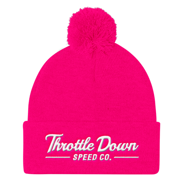 Fluorescent Series Pom Beanie - Throttle Down Speed Co.