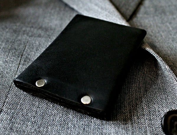 Hammer Riveted Leather Wallet - Throttle Down Speed Co.
