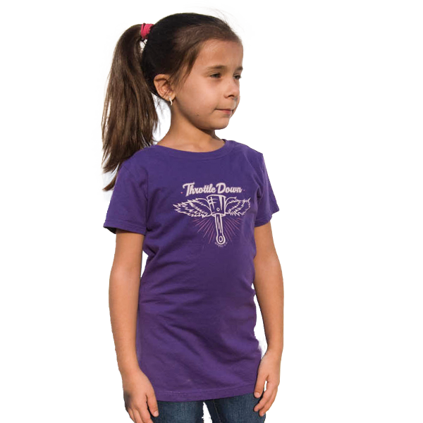 Girls Flying Piston T-Shirt - Throttle Down Speed Co.