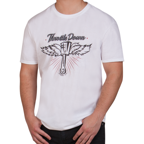 Flying Piston T-Shirt - Throttle Down Speed Co.