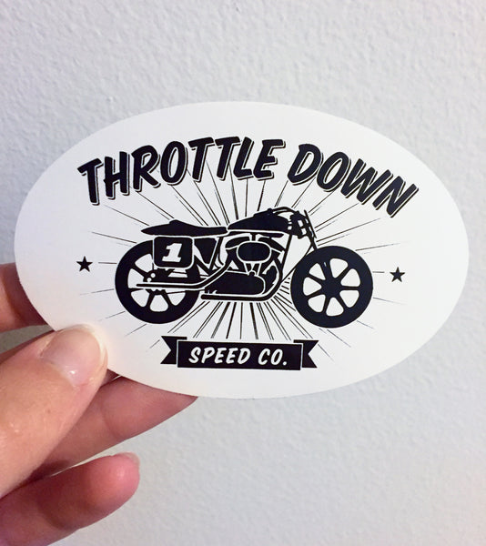 Tracker Sticker - Throttle Down Speed Co.