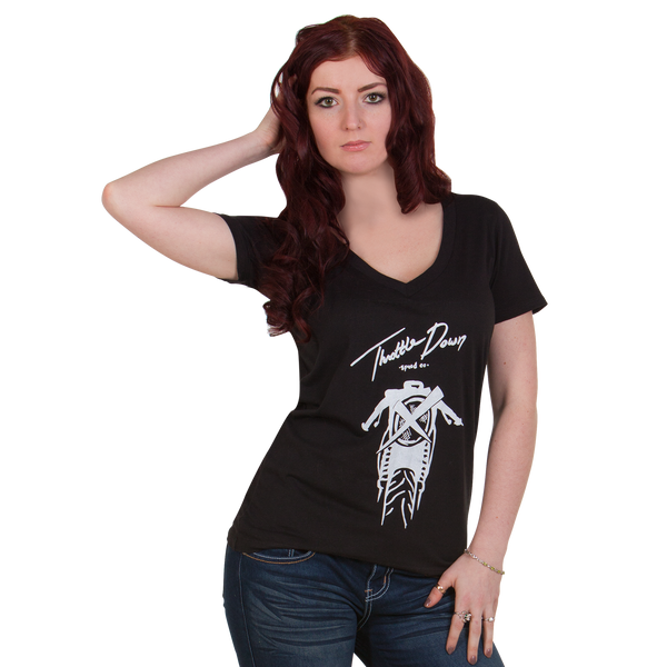 Womens Cafe-X Premium V-Neck - Throttle Down Speed Co.