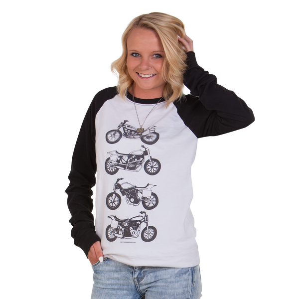Women's Go Fast Turn Left Long Sleeve - Throttle Down Speed Co.