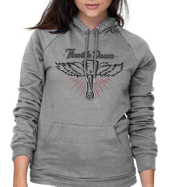 Women's Flying Piston Hoodie - Throttle Down Speed Co.