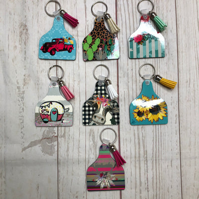 Cow Tag Key Chains - Sweet Girls
