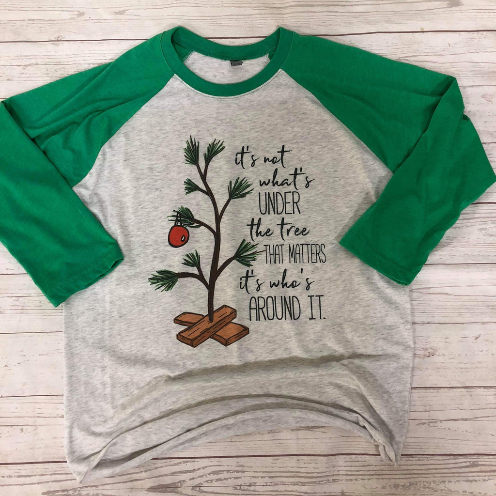 It's Not About What's Under The Tree Adult Raglan - Sweet Girls
