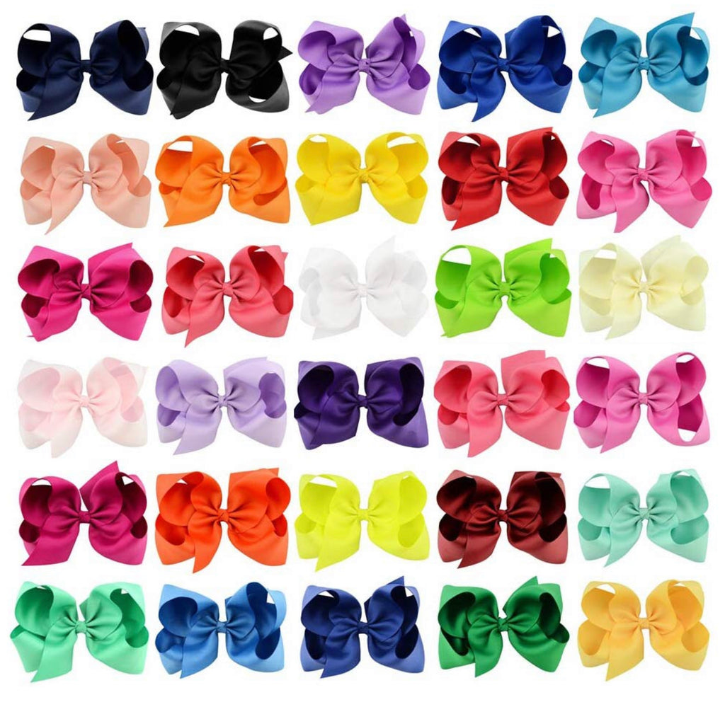 6 Inch Bow Bundle (30 Bows) - Sweet Girls