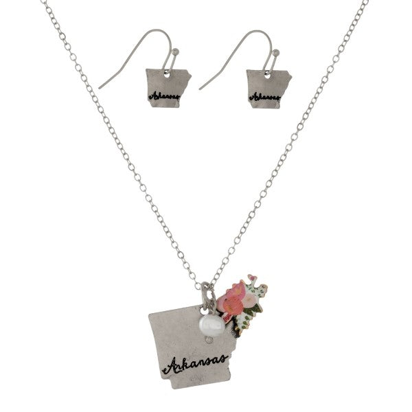 State Necklace and Earrings Set - Sweet Girls