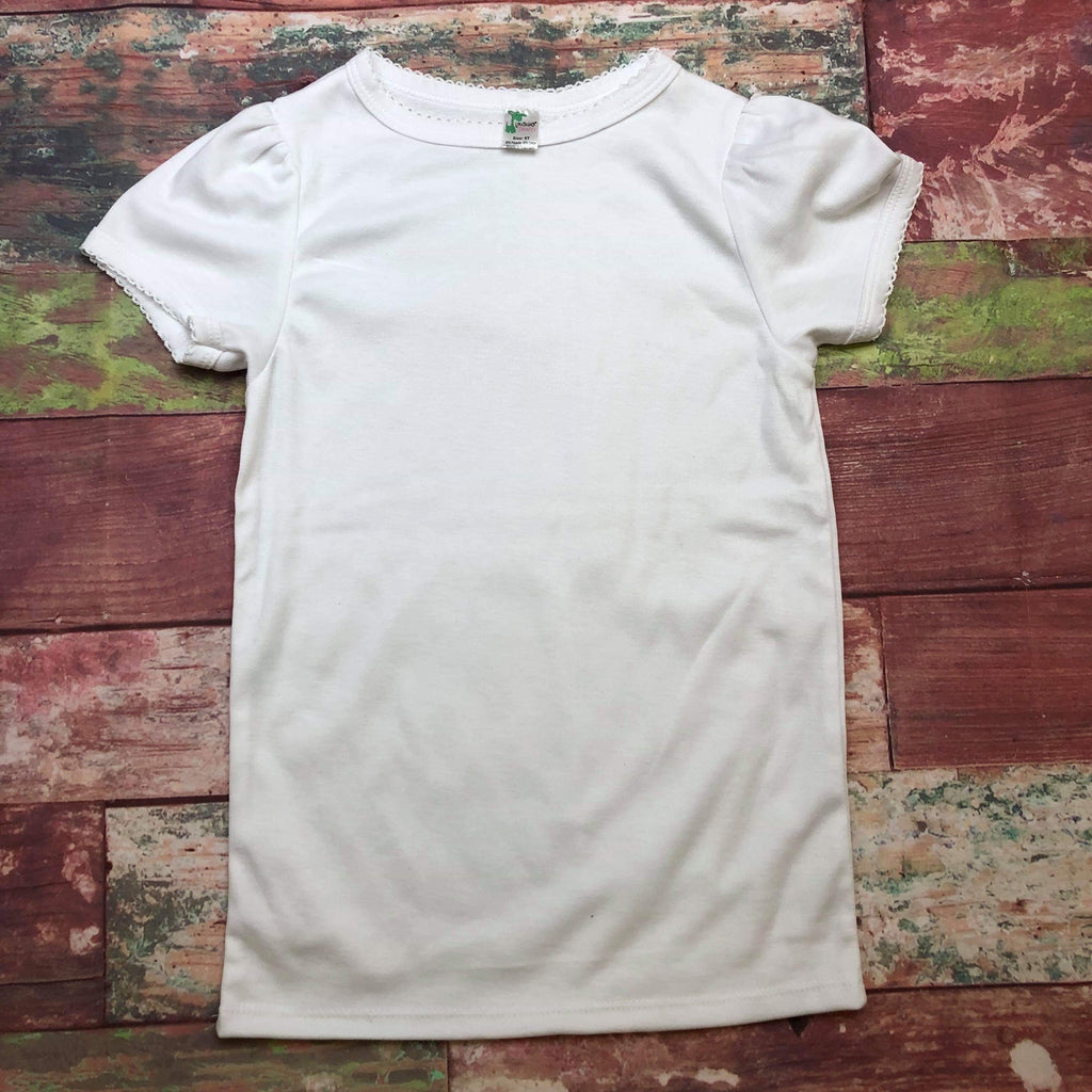 White Kids Tee (3 Option) - Sweet Girls