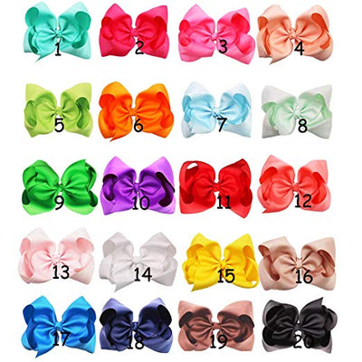 8 Inch Bow Bundle (20 Bows) - Sweet Girls