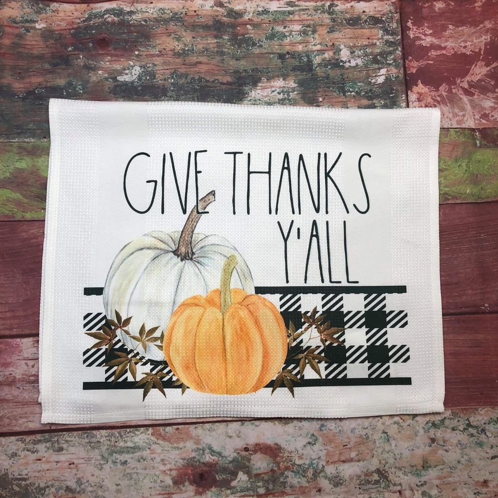 Give Thanks Y'all Kitchen Towel - Sweet Girls