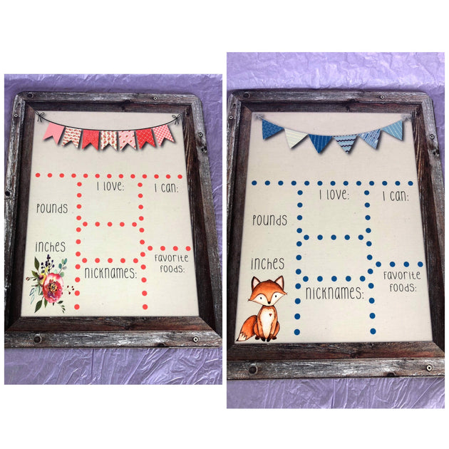 Baby Stats Board - Sweet Girls