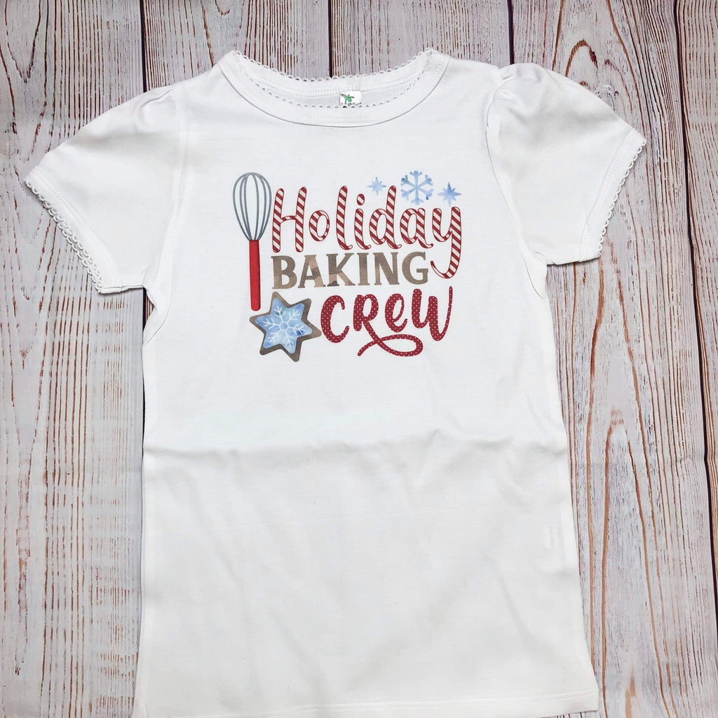 Holiday Baking Crew Kids Tee and Infant Onesie