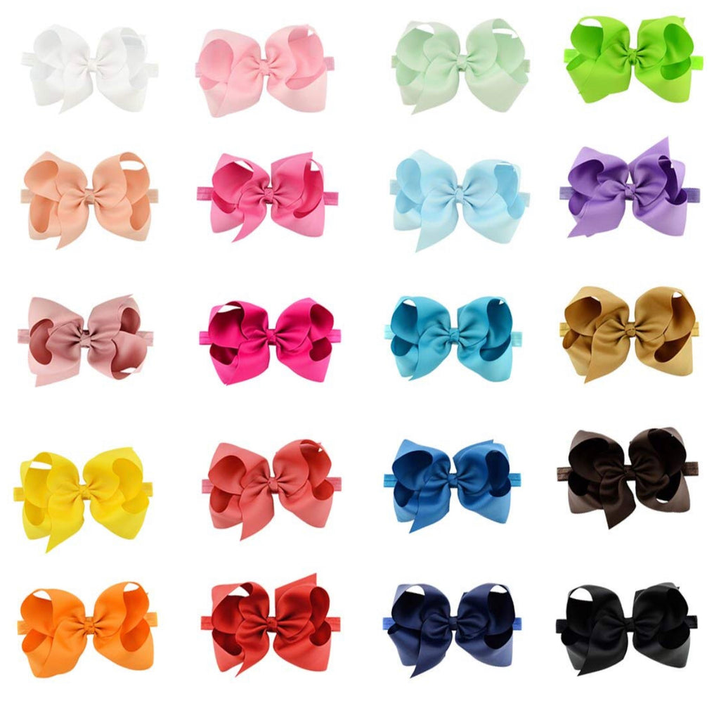 6 Inch Bow Bundle on Headband - Sweet Girls