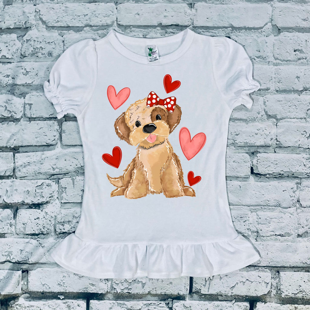 Girl Puppy Love Kids Tee and Onesies
