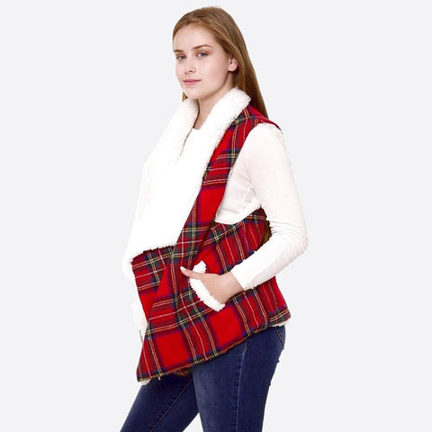 Tartan Plaid Vest - Sweet Girls